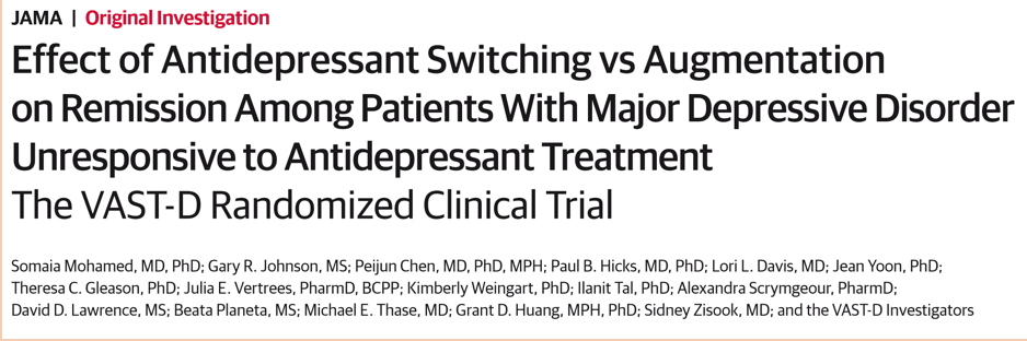 They Identified 1522 Patients With Major Depression Who Had Not Responded To At Least One Course Of Antidepressant Most These As You Would Expect